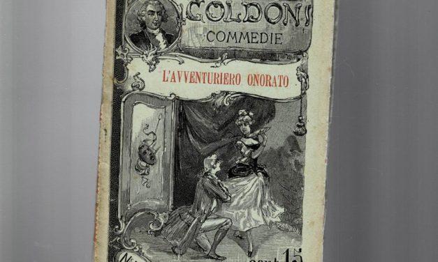 L'avventuriere onorato  di Carlo Goldoni