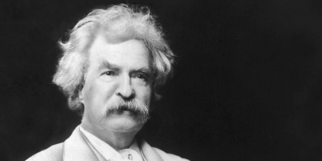 Il 21 aprile del 1910 moriva a Redding, Mark Twain